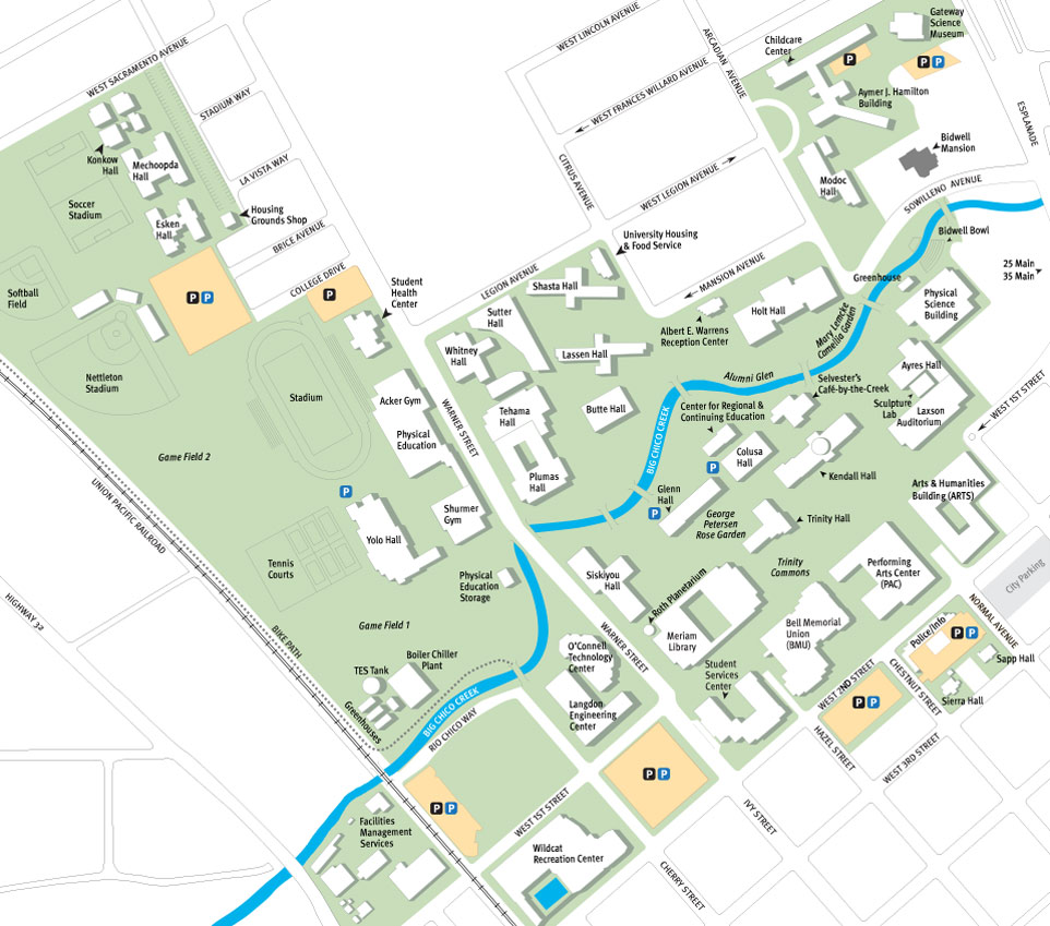 Illustrated campus map