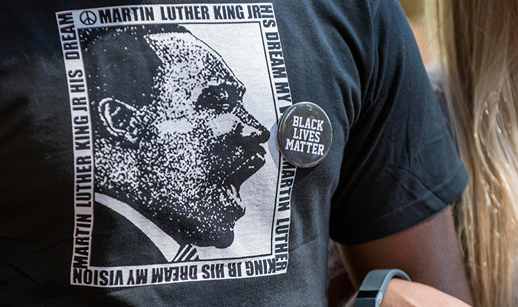 tshirt with Martin Luther King, Jr graphic