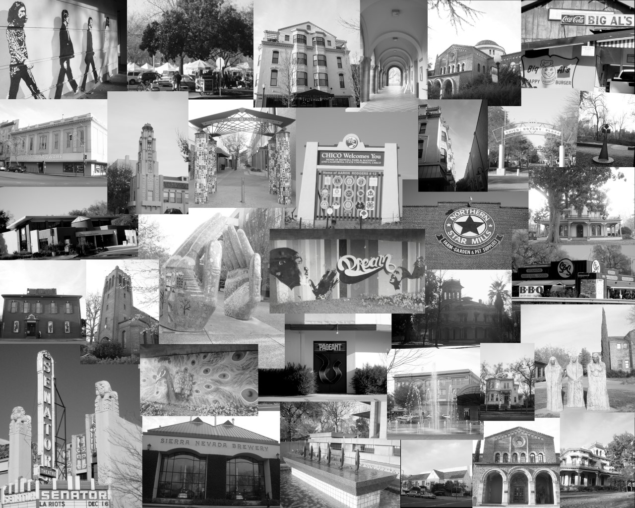 Collage of places in Chico