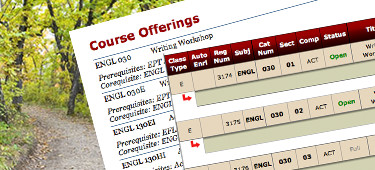 Course Offerings document