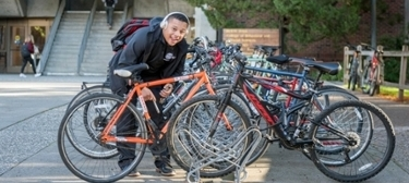 Picture of Chico State bikes