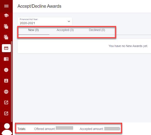 Accept/decline awards