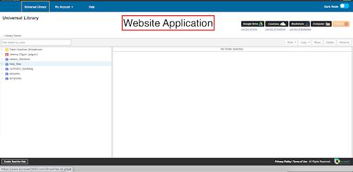 Kurzweil Web application home screen