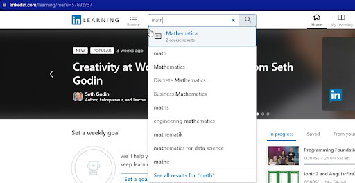 Linkedin Learning Search Image